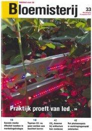 Bloemisterij, Praktijk proeft van LED - Philips