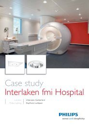 Case study Interlaken fmi Hospital - Philips Lighting
