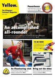 Yellow. The Klingspor customer magazine - Edition 1 2020