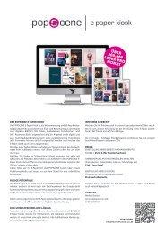 POPSCENE E-Paper Kiosk