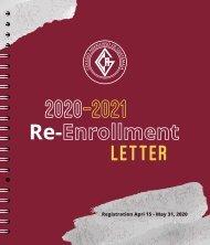 2020-2021 Re-Enrollment Letter