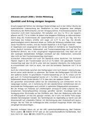 Qualität und Ertrag steigen langsam - LMS Landwirtschaftsberatung ...