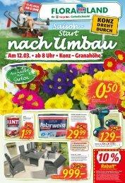 Konz dreht durch: Hagebaumarkt & Floraland Eröffnung am 12.03.