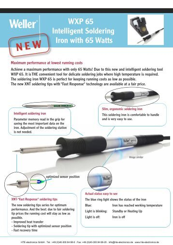 WXP 65 Intelligent Soldering Iron with 65 Watts - HTE