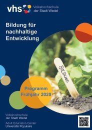 VHS Wedel Frühjahr 2020