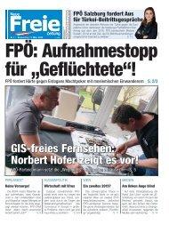 """FPÖ: Aufnahmestopp für """"Geflüchtete""""!"""