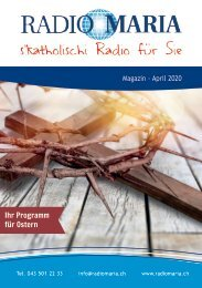 Radio Maria Magazin - April 2020