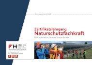 Zertifikatslehrgang Naturschutzfachkraft