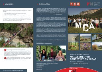 Management of Conservation Areas