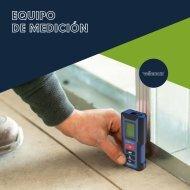 Catálogo Equipo de medición