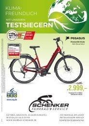 Prospekt Fahrrad Schenker März 2020