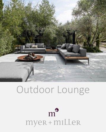 Myer + Miller Outdoor Lounge