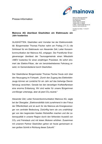 PM i-iEV-Übergabe (pdf | 0,07 MB - Mainova AG