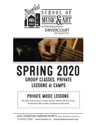 BSOMA Spring 2020 flyer for Music and Arts