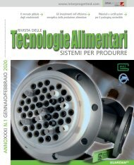 Tecnologie Alimentari n°1 Gennaio/Febbraio 2020