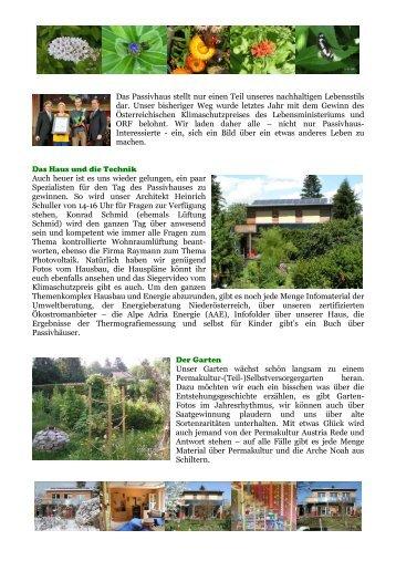 Programm Besichtigung Haus Zimmel-Pieringer - ATOS