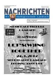 Folge 3, Jahrgang 67 Lambach, März 2012 - Lambach - Land ...