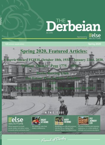 The Derbeian Spring 2020 Featured Articles