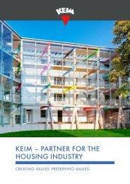 KEIM Partner for the housing industry