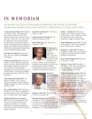 IN MEMORIAM - Frances Payne Bolton School of Nursing - Case ...