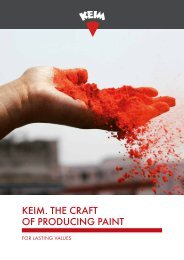 KEIM The craft of producing paint