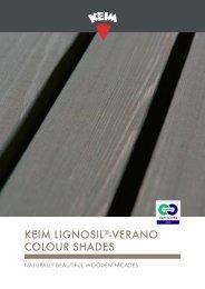 KEIM Lignosil-Verano colour shades