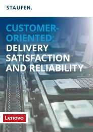 Customeroriented: Delivery satisfaction and reliability