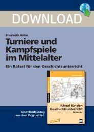 Elisabeth Höhn: Turniere und Kampfspiele im Mittelalter - FORREFS