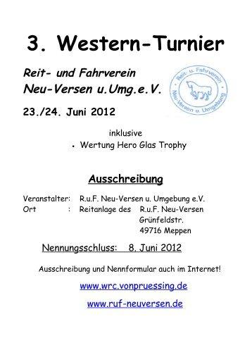 Wichtig : Allgemeine Turnier -Bestimmungen 2012 - RuF Neu-Versen