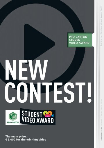 Pro Carton Student Video Award Brochure