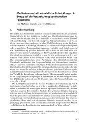 Medienkonzentrationsrechtliche Entwicklungen in ... - Buchhandel.de