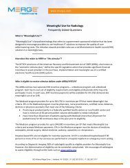 Meaningful Use for Radiology Frequently Asked ... - Merge Healthcare