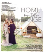 "Real Weddings Magazine's ""Home on the Range"" Cover Model Contest Shoot - Winter/Spring 2020 - Featuring some of the Best Wedding Vendors in Sacramento, Tahoe and throughout Northern California!"