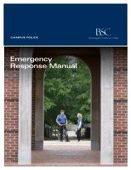 Emergency Response Manual - 2020
