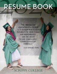 2020 Scripps College Resume Book