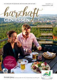 Kulinarikmagazin harzhaft GENIESSEN Frühling/Sommer 2020
