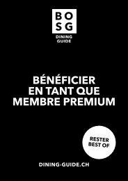 BOSG Brochure pour les membres