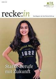 recke:in - Das Magazin der Graf Recke Stiftung Ausgabe 1/2020