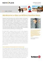 Web-Reporting auf Basis von MS Office SharePoint - INTENSIO GmbH