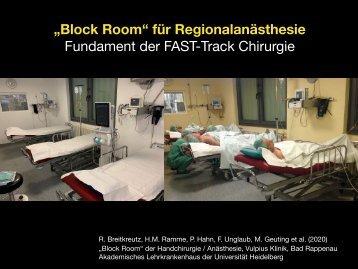"""""""Block Room"""" für die Regionalanästhesie: Ein Beispiel"""