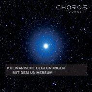 Kulinarische Begegnungen mit dem Universum
