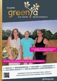 greenya | Das grüne Branchenbuch 2020/2021 Berlin und östliche Bundesländer