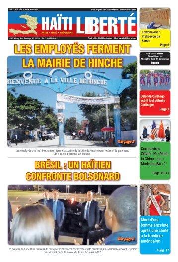 Haiti Liberte 18 Mars 2020