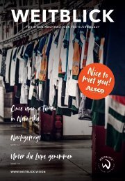 WEITBLICK Magazin | Nice to miet you - Alsco