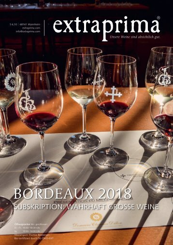 Extraprima Bordeaux Subskription 2018 Magazin