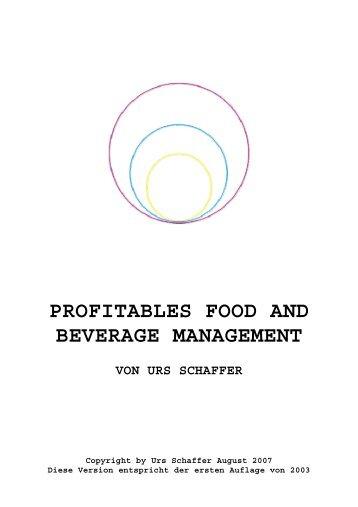 profitables food and beverage management von urs ... - news-data.ch