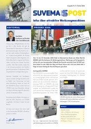 Infos über attraktive Werkzeugmaschinen - Suvema AG