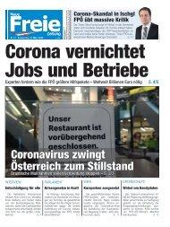 Corona-Krise vernichtet Jobs und Betriebe
