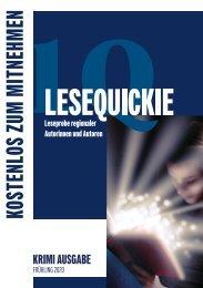 Lesequickie - Leseprobe regionaler Autorinnen und Autoren