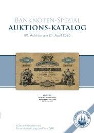 90. Auktion - Banknoten-Spezial - Emporium Hamburg